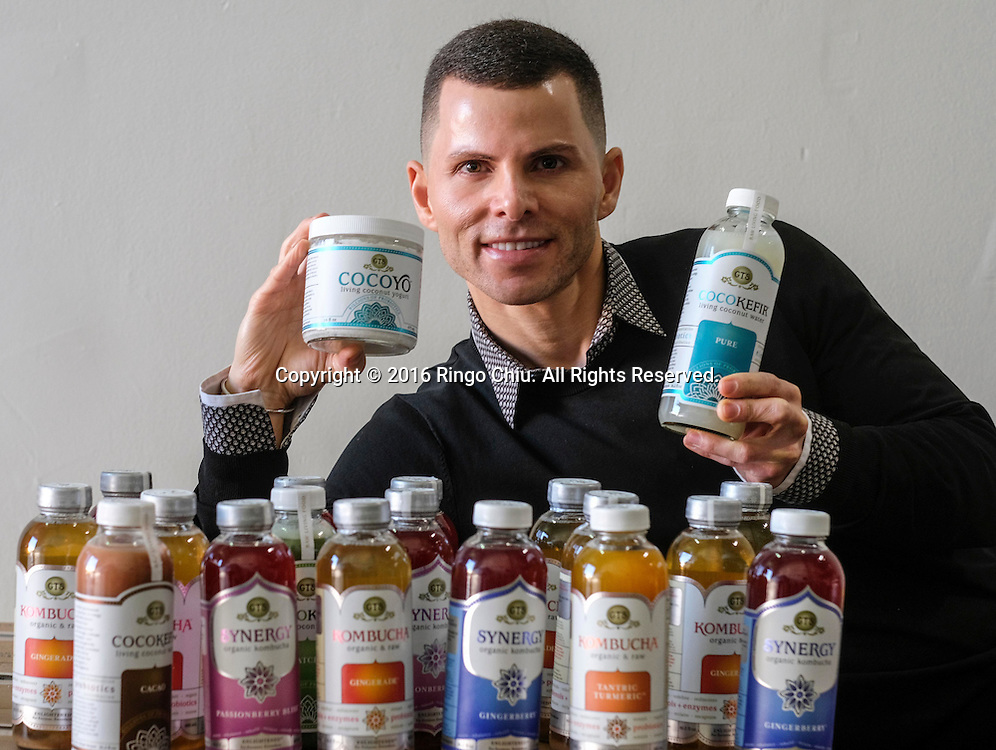 GT Dave, founder of GT's Kombucha, the biggest producer of Kombucha in the world.(Photo by Ringo Chiu/PHOTOFORMULA.com)<br /> <br /> Usage Notes: This content is intended for editorial use only. For other uses, additional clearances may be required.