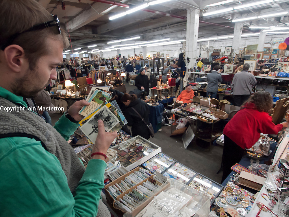 Indoor antique and flea market in Chelsea Manhattan New York City