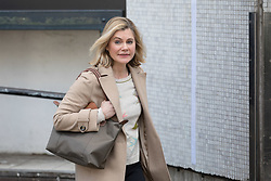 © Licensed to London News Pictures. 18/02/2018. London, UK. JUSTINE GREENING MP leaves ITV Studios in London after appearing on the Peston on Sunday politics show. Photo credit: Vickie Flores/LNP