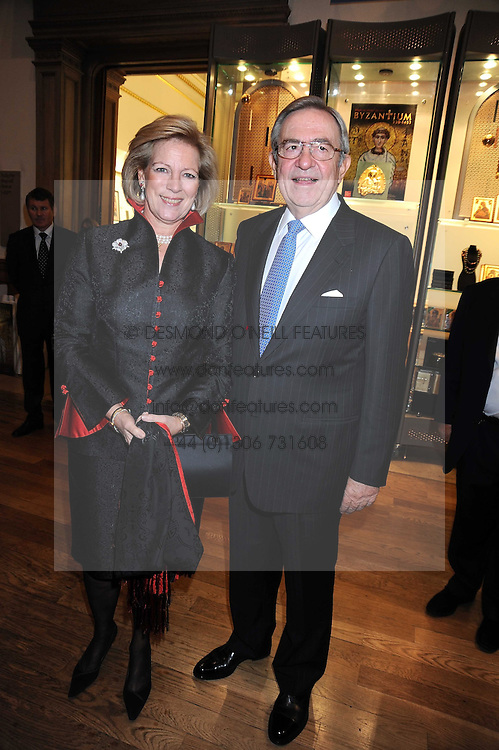 HM KING CONSTANTINE and  QUEEN ANNE-MARIE OF GREECE at the opening of the Royal Academy of Arts Byzantium 330-1453 exhibition held at the RA, Burlington House, Piccadilly, London on 21st October 2008.
