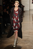 Ashley Smith walks the runway wearing Altuzarra Fall 2011 Collection during Mercedes-Benz Fashion Week in New York on February 12, 2011