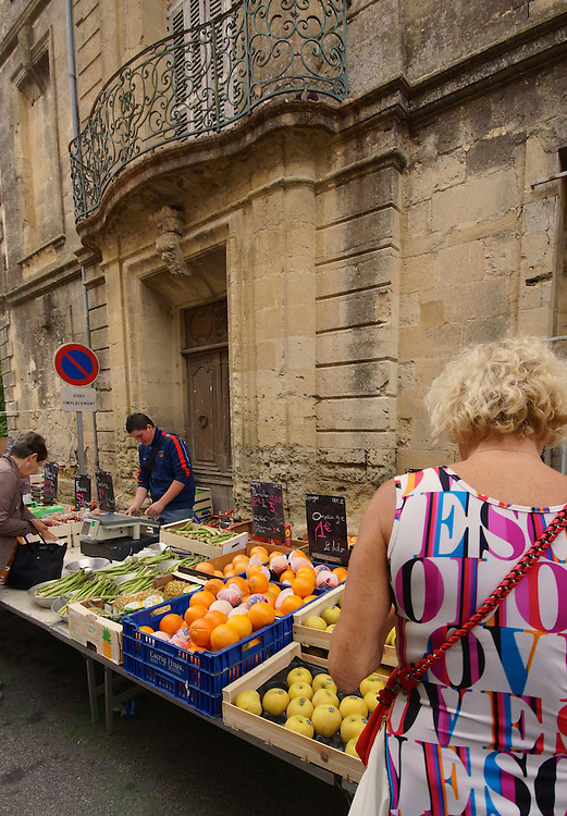 Outdoor markets, Calvisson, south of France,
