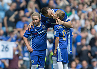 Football - 2016 / 2017 Premier League - Chelsea vs. Sunderland <br /> <br /> A tender moment as John Terry of Chelsea kisses his son as he prepares to play his last Premier League game at Stamford Bridge.<br /> <br /> COLORSPORT/DANIEL BEARHAM
