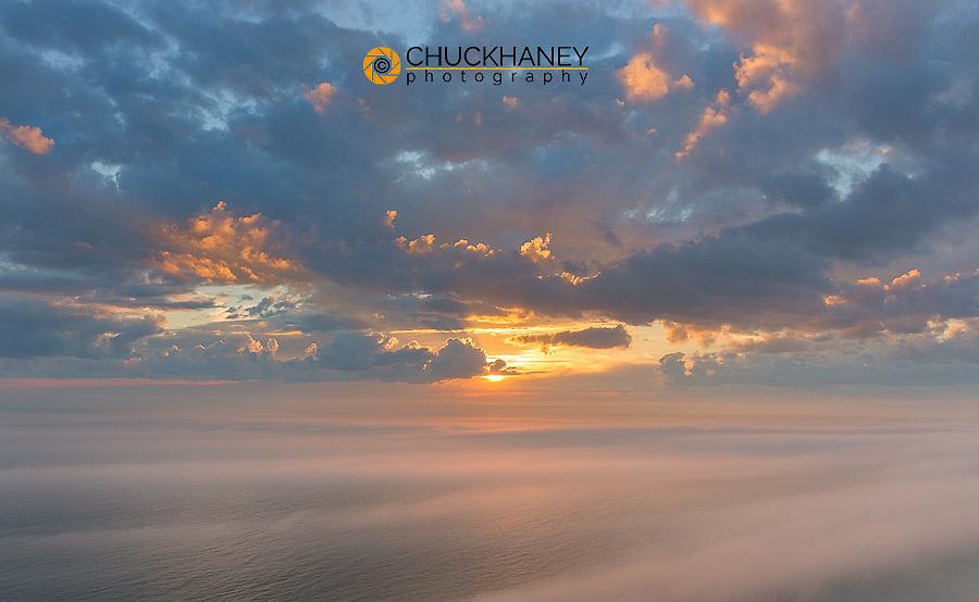 Sunset clouds over Lake Michigan at Sleeping Bear National Lakeshore near Empire, Michigan, USA