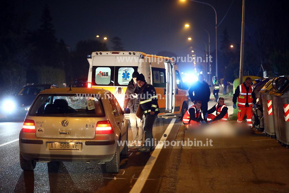 INCIDENTE MORTALE INVESTITO ERMANNO PANATO VIA CELLETTA A ARGENTA
