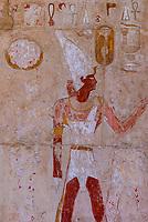 Hieroglyphics, Temple of Queen Hatshepsut, near the Valley of the Kings, near Luxor, Egypt