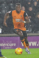 Hull City midfielder Moses Odubajo during the Sky Bet Championship match between Hull City and Bolton Wanderers at the KC Stadium, Kingston upon Hull, England on 12 December 2015. Photo by Ian Lyall.
