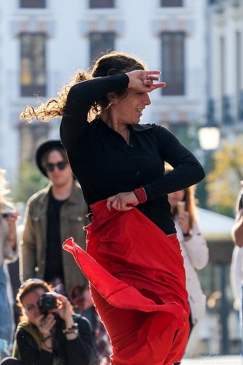 Flamenco street performance