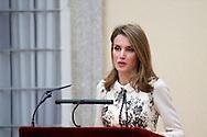 Princess Letizia of Spain Delivers Fine Arts Gold Medals at Palacio de El Pardo on December 10, 2013 in Madrid