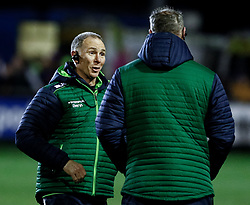 Head Coach Andy Friend of Connacht with Jimmy Duffy<br /> <br /> Photographer Simon King/Replay Images<br /> <br /> Guinness PRO14 Round 7 - Ospreys v Connacht - Friday 26th October 2018 - The Brewery Field - Bridgend<br /> <br /> World Copyright © Replay Images . All rights reserved. info@replayimages.co.uk - http://replayimages.co.uk
