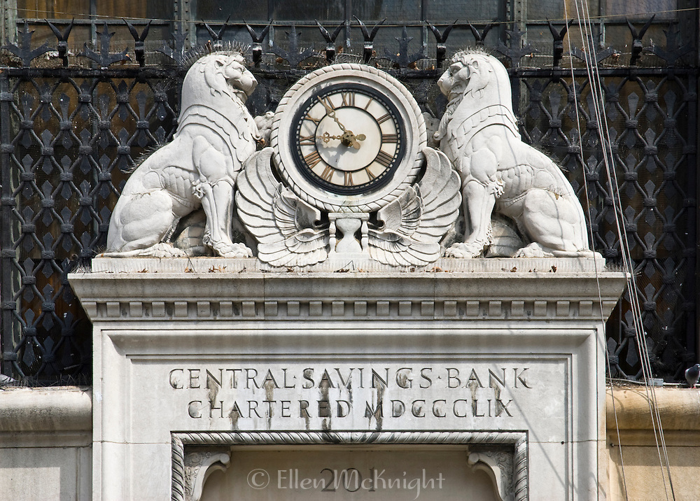The Central Savings Bank in Manhattan was designed by York & Sawyer architects in 1928