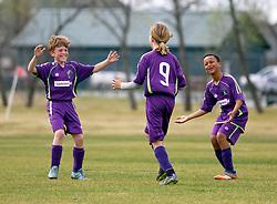 28 February 2016. Burbank Soccer Complex, Baton Rouge, Louisiana.<br /> New Orleans Jesters Youth Academy U10 Purple vs BRSC Zancc. Jesters draw 4-4.<br /> Photo©; Charlie Varley/varleypix.com