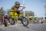 #212 (PETERSONE Vineta) LAT at round 8 of the 2018 UCI BMX Supercross World Cup in Santiago del Estero, Argentina.