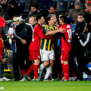Fenerbahce's Mehmet Topuz (C) during their Turkish superleague soccer match Fenerbahce between Gaziantepspor at the Sukru Saracaoglu stadium in Istanbul Turkey on Monday09 January 2011. Photo by TURKPIX