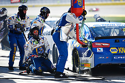March 4, 2018 - Las Vegas, NV, U.S. - LAS VEGAS, NV - MARCH 04: Monster Energy NASCAR Cup Series driver Chase Elliott pits during the Monster Energy NASCAR Cup Series Pennzoil 400 Sunday, March 4, 2018, at the Las Vegas Motor Speedway in Las Vegas, NV. (Photo by Sam Morris/Icon Sportswire) (Credit Image: © Sam Morris/Icon SMI via ZUMA Press)