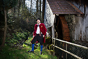 Dorothee, member of the Trachtenverein Bleibach, is wearing a traditional costume in Bleibach, Germany on April 7, 2018.<br /> <br /> Groom: Norbert