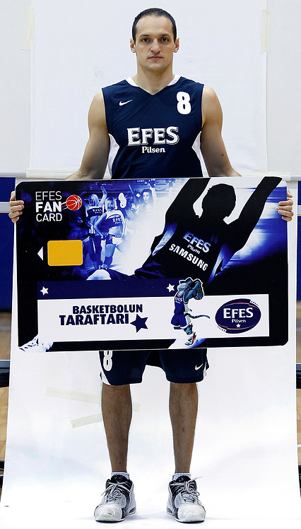 Turkish Basketball team Efes Pilsen's Igor RAKOCEVIC during their Efes Pilsen sports hall in Istanbul Turkey on Weonesday 22 September 2010. Photo by Aykut AKICI/TURKPIX