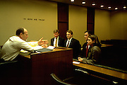 Kent college of Law students and judge at Moot Court age 27  and 43.  Chicago Illinois USA