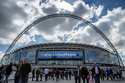 Wembley prepares for todays Checkatrade Trophy Final - Photo mandatory by-line: Jason Brown/JMP -  02/04//2017 - SPORT - Football - London - Wembley Stadium - Coventry City v Oxford United - Checkatrade Trophy Final