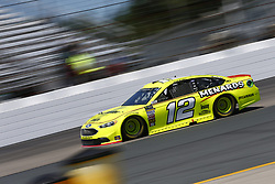 July 20, 2018 - Loudon, New Hampshire, United States of America - Ryan Blaney (12) takes to the track to practice for the Foxwoods Resort Casino 301 at New Hampshire Motor Speedway in Loudon, New Hampshire. (Credit Image: © Justin R. Noe Asp Inc/ASP via ZUMA Wire)