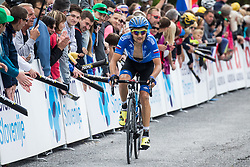 Artem Ovechkin (RUS) of Gazprom-Rusvelo at finish line during Stage 3 of 24th Tour of Slovenia 2017 / Tour de Slovenie from Celje to Rogla (167,7 km) cycling race on June 16, 2017 in Slovenia. Photo by Vid Ponikvar / Sportida