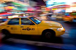 Os famosos Yellow cab, os táxis de Nova Iorque. FOTO: Jefferson Bernardes / Preview.com