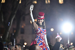 © Licensed to London News Pictures. 31/01/2020. London, UK. Supporters of Brexit celebrate in Westminster, London, on the day that the UK leaves the European Union. 51. 9% of the UK population voted to leave the EU in a referendum in June 2016. Photo credit: Ben Cawthra/LNP