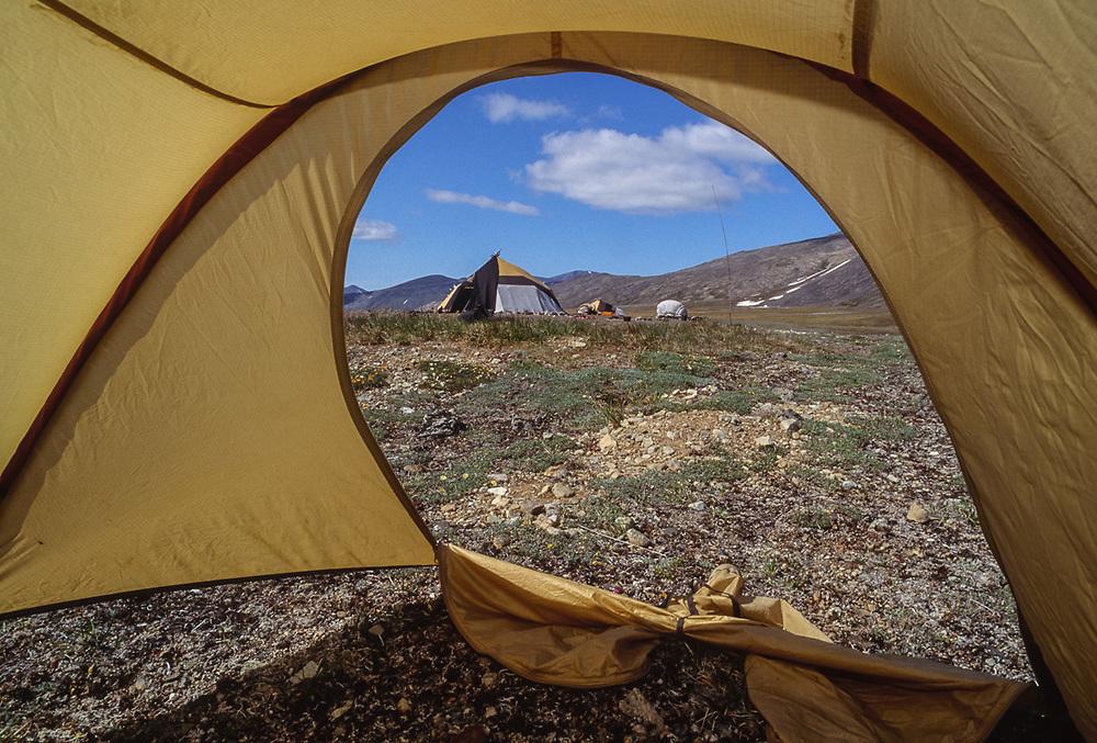 View from Pat O'Hara's tent, Chukchi reindeer camp, Val 'karvaam Valley, Chukotsk Peninsula, Northeast  Russia