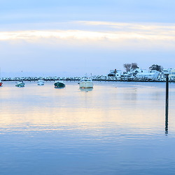 A winter morning in Rye Harbor, New Hampshire.