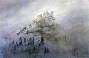 Caspar David Friedrich 'Morgennebel im Gebirge'1808 'Morning Mist in the Mountains'