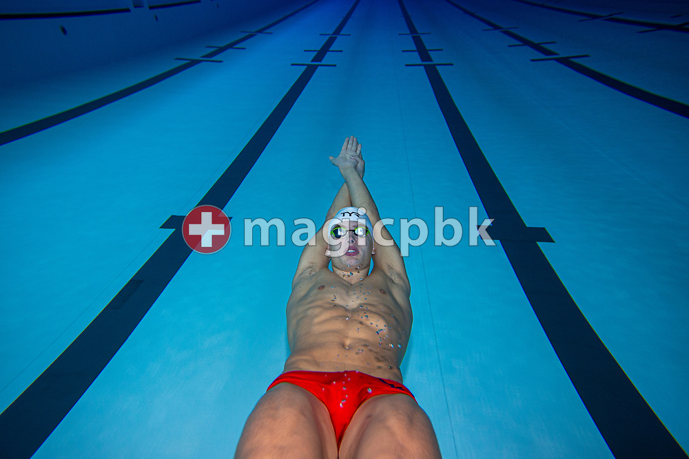 Thierry BOLLIN of Switzerland is pictured during a training session during the Swiss Swimming Training Camp for the Junior European Championships Team in Uster, Switzerland, Saturday, June 30, 2018. (Photo by Patrick B. Kraemer / MAGICPBK)