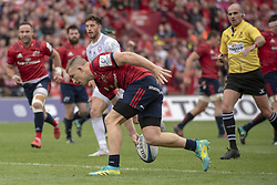October 20, 2018 - Limerick, Ireland - Andrew Conway of Munster scores a try during the Heineken Champions Cup match between Munster Rugby and Gloucester Rugby at Thomond Park in Limerick, Ireland on October 20, 2018  (Credit Image: © Andrew Surma/NurPhoto via ZUMA Press)