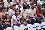 DESCRIZIONE : Campionato 2014/15 Serie A Beko Dinamo Banco di Sardegna Sassari - Grissin Bon Reggio Emilia Finale Playoff Gara6<br /> GIOCATORE : Salvatore Sirigu Marco Bazzoni BAZ<br /> CATEGORIA : Tifosi Pubblico Spettatori VIP<br /> SQUADRA : Dinamo Banco di Sardegna Sassari<br /> EVENTO : LegaBasket Serie A Beko 2014/2015<br /> GARA : Dinamo Banco di Sardegna Sassari - Grissin Bon Reggio Emilia Finale Playoff Gara6<br /> DATA : 24/06/2015<br /> SPORT : Pallacanestro <br /> AUTORE : Agenzia Ciamillo-Castoria/L.Canu