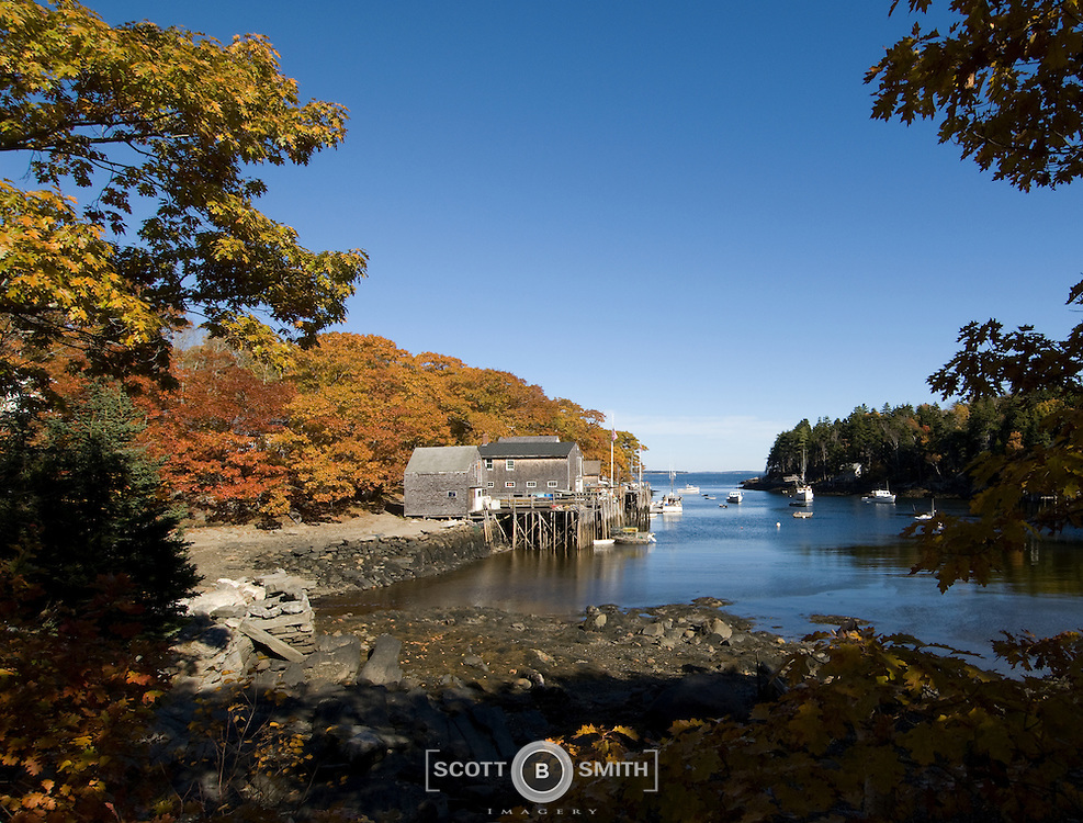 Back Cove inlet and harbor anchorage, near New Harbor Maine