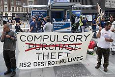 2021-08-05 Stop HS2 protest at HS2 Roadshow