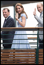 July 14, 2019 - London, London, United Kingdom - Image licensed to i-Images Picture Agency. 14/07/2019. London, United Kingdom. The Duke and Duchess of Cambridge arriving for the Men's Singles Final on the last day of the Wimbledon Tennis Championships in London. (Credit Image: © Stephen Lock/i-Images via ZUMA Press)