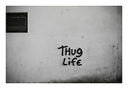 'Thug life, 2013', from 'The Recession Will Not Be Televised' by Colin McPherson, a body of photographic work which looks at the visual representation of the ongoing economic crisis in Porto, Portugal.<br />