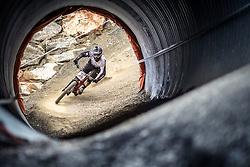 14.06.2014, Bike Park, Leogang, AUT, UCI, Mountainbike Weltcup, Leogang, Downhill, Herren, im Bild Lorenzo Suding (ITA) // during Mens Downhill of UCI Mountainbike Worldcup at the Bikepark, Leogang, Austria on 2014/06/14. EXPA Pictures © 2014, PhotoCredit: EXPA/ JFK