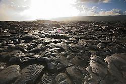 Pahoehoe lava from 1992 to 2003 eruption, Hawaii Volcanoes National Park, Kilauea, Big Island, Hawaii..