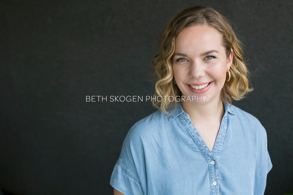 McKenna has her portrait taken at Industrious in Madison, Wisconsin on July 12, 2018. <br /> <br /> Beth Skogen Photography - www.bethskogen.com Beth Skogen headshot and portrait portfolio. Madison, Wisconsin portrait and headshot photographer