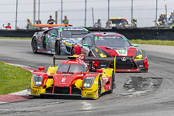 May 6, 2018 - Lexington, Ohio, United States of America - The AFS PR1 Mathiasen Motorsport Ligier LMP2 car races through the keyhole turn during the the Acura Sports Car Challenge at Mid Ohio Sports Car Course in Lexington, Ohio. (Credit Image: © Walter G Arce Sr Asp Inc/ASP via ZUMA Wire)