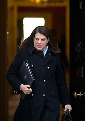 © Licensed to London News Pictures. 30/01/2018. London, UK. Minister of State for Immigration Caroline Nokes leaving Downing Street after attending a Cabinet meeting this morning. Photo credit : Tom Nicholson/LNP