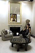 A customer in Chanel boutique in Peninsula hotel in Shanghai, on December 3, 2009. Chanel's Peninsula hotel boutique is the largest Chanel store in China and was opened on December 3. Photo by Lucas Schifres/Pictobank
