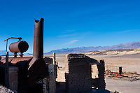 United States, California, Death Valley. The Harmony Borax Works are located in Death Valley at Furnace Creek Springs.
