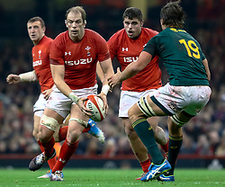 Alun Wyn Jones of Wales<br /> <br /> Photographer Simon King/Replay Images<br /> <br /> Under Armour Series - Wales v South Africa - Saturday 24th November 2018 - Principality Stadium - Cardiff<br /> <br /> World Copyright © Replay Images . All rights reserved. info@replayimages.co.uk - http://replayimages.co.uk