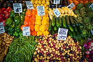 2018 JANUARY 11 - Produce for sale at Pike Place Market, Seattle, WA, USA. By Richard Walker