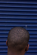Detail of an anonymous young man on a backstreet in Hackney who personally saw the looting of Siva's Clarence Road Convenience Store.