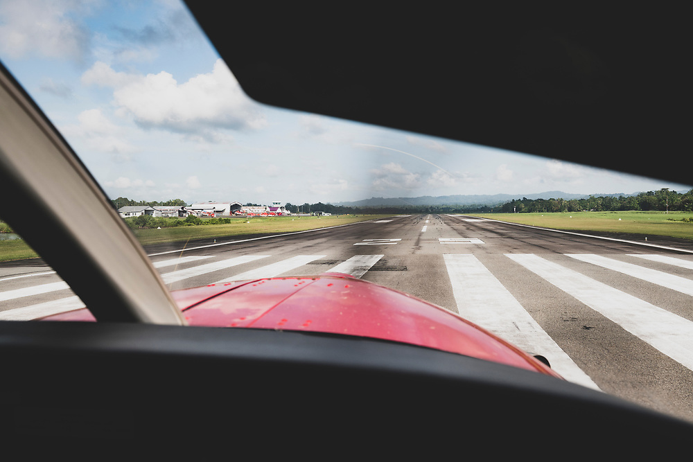 View from the cockpit of a Quest Kodiak 100 departing Madang, Papua New Guinea.<br /> <br /> (June 20, 2019)