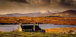 Croft cottage near Kintarvie, Isle of Harris, Outer Hebrides, Scotland<br /> <br /> (c) Andrew Wilson | Edinburgh Elite media