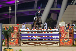 TEBBEL Maurice (GER), Don Diarado<br /> Doha - CHI Al SHAQAB 2020<br /> - Stechen -<br /> Commercial Bank CHI Al Shaqab Grand Prix presented by LONGINES<br /> Int. jumping competition over two rounds and jump-off (1.60 m)<br /> 29. Februar 2020<br /> © www.sportfotos-lafrentz.de/Stefan Lafrentz